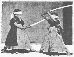 Kenjutsu as practised by children. What tension!