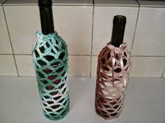 Resultado de imagem para artesanato em garrafa de vidro com barbante