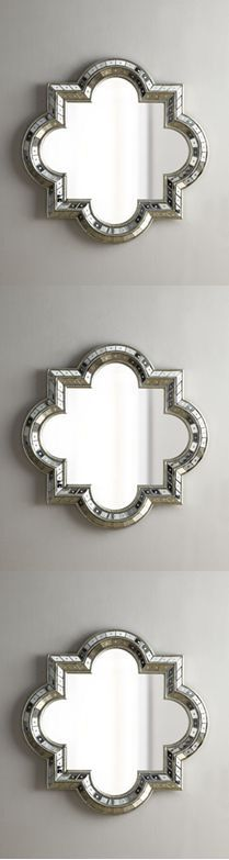 Quatrefoil Mirror (very Moroccan) Moroccan Design, Moroccan Decor, Moroccan Style, Muebles Art Deco, Beautiful Mirrors, Home And Deco, Quatrefoil, Home Accents, Decoration
