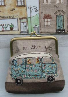 Purse with VW Caravan -- Dear Emma Handmade Designs