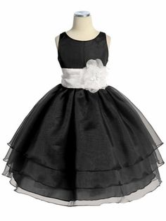 flower girl dress? Black Three Layer Organza Dress