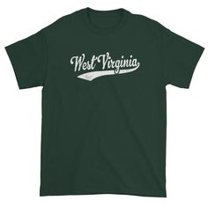 Vintage West Virginia WV T-Shirt with Script Tail Design Adult