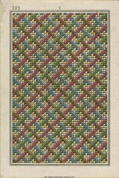 Free Easy Cross, Pattern Maker, PCStitch Charts + Free Historic Old Pattern Books: Sajou No 309