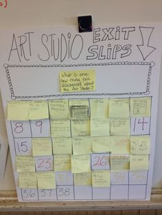 Weekly/daily exit slips with two choices for documenting progress in their work.