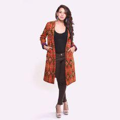 Ethnic Cotton Ikat Jacket by EthnicheBySwatiKain on Etsy, $74.99