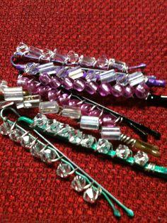 Beaded bobby pins :)