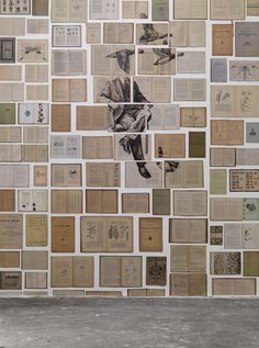 Overview This collection comprises old books on which large paintings have been painted, ultimately resulting in 7 designs murals and 2 wallpaper rolls). The middle of this wallpaper is a mural of Environmental Graphics, Environmental Design, Graphic Wallpaper, Of Wallpaper, Wall Fires, Bathroom Wallpaper, Large Painting, Installation Art, Design Elements