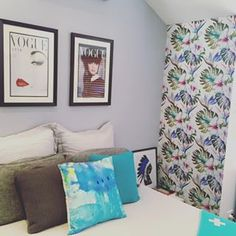 Removable wallpaper is great for decorating a small spare wall — you know the one…the one you've never known what to do with. | 17 Unexpected Ways To Decorate With Removable Wallpaper