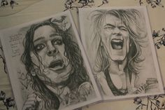 Ozzy & Randy caricature set by Sheik by PartsUnknownPosters