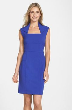 Marc+New+York+by+Andrew+Marc+Collar+Stretch+Sheath+Dress+available+at+#Nordstrom