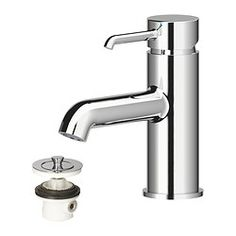 "DANNSKÄR bath faucet with strainer, chrome plated Height: 5 7/8 "" Height: 15 cm"