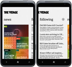 The Verge App Concept for WP7