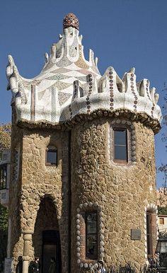 Park Güell. Antoni Gaudí. Barcelona (Catalonia):