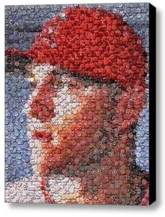Amazing Framed Los Angeles Angels Mike Trout Bottlecap mosaic LE print