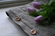 set of 2 LINEN PILLOW CASE with wooden buttons...Handmade item Materials: pure linen, washed linen, flax Made to order Ships worldwide from United Kingdom.