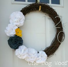 This house number door wreath adds a fun pop of color to your front entrance while being practical and functional at the same time.