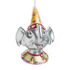 Decorazione testa di elefante Circus per albero di Natale   - Venduto x 4