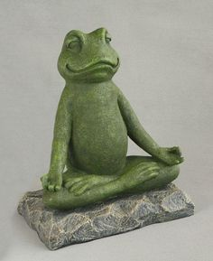 New Frog Flocked Garden Ornament Large Garden Home Décor Accessories Stone