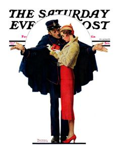 Lost in Paris (January 30,1932) The Saturday Evening Post by Norman Rockwell