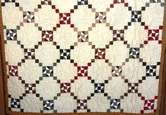 I restored this quilt it's over 100 years old