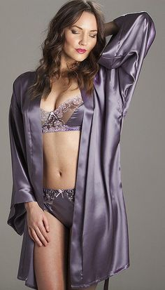 The Universal Man Purple Lingerie, Satin Lingerie, Stockings Lingerie, Pretty Lingerie, Vintage Lingerie, Beautiful Lingerie, Lingerie Models, Sexy Lingerie, Pyjama Satin