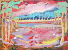 Dan Llywelyn Hall ~ Plantation in Red, 2009 ~ Sandra Higgins Art Advisor, Past, Artsy, Canvas, Gallery, Red, Painting, Image, Welsh