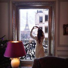 by jenan_alrubaie Eiffel_Tower Francia Paris, Paris France, Tour Eiffel, Negin Mirsalehi, French Lifestyle, I Love Paris, Paris Apartments, Window View, Through The Window