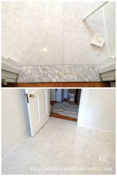 Marble LOOK-ALIKE porcelain tile! I LOVE Carrara marble floor tile... but I didn't want the maintenance. I finally found a great porcelain option!!