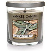 Yankee Candle Sage & Citrus Small Single Wick Tumbler Candle, Fresh Scent