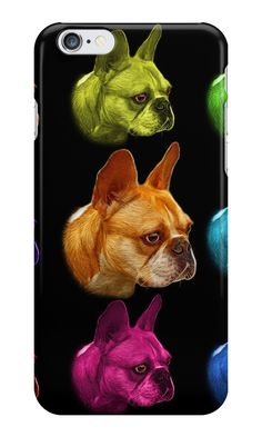 """""""French Bulldog Pop Art - 0755"""" iPhone Cases & Skins by Rateitart 
