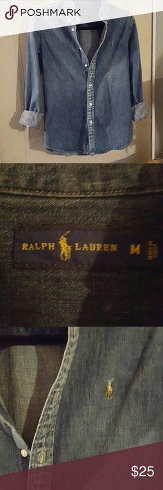 Button down denim shirt Excellent condition Ralph Lauren Denim Ralph Lauren Blue Label Tops Button Down Shirts