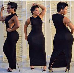 Black Dress open on sides