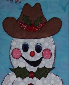 Country Christmas - Snowman Quilted Wall Hanging Pattern