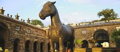 """""""Warhorse"""" at Chatsworth: The 'Palace of the Peak District' and Britain's favourite country house."""