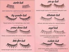 different fake lashes--interesting...never tried these yet