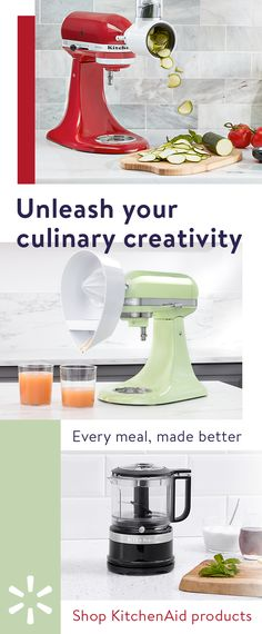 Do more than ever before with all-new products from KitchenAid. Featuringeverything from the iconic KitchenAid stand mixers to coffee makers, hand mixers,blenders, accessories and more—you'll discover everything you need to make every meal better. Kitchen Aid Recipes, Kitchen Aid Mixer, Kitchen Utensils, Kitchen Tools, Kitchen Dining, Kitchen Decor, Kitchen Appliances, Kitchen Aide, Kitchen Small