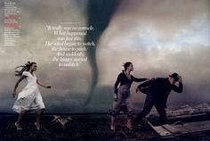 Keira Knightley como Dorothy, de O Mágico de Oz. Foto de Annie Leibovitz para Vogue EUA.