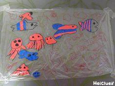 カラフルなお魚たちの絵