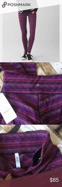 NWT Lululemon Wunder Under leggings Medium rise, Wunder Under style, Luon fabric with added Lycra that feels like a second skin and stays in great shape. Four-way stretch. Popular Space Dye pattern in twisted plum color. Full length. No trades! Price is firm unless bundled. Will come packaged in a Lululemon tote for a perfect holiday gift! lululemon athletica Pants Leggings