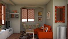 Salon color naranja