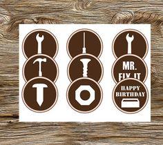 DIY Printable Mr. Fixit Tool Party Cupcake by leslienashdesigns, $3.50