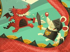 Knights & Dragons on Behance