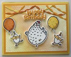 Kids Birthday Cards, Birthday Fun, Cool Cards, Chicken Scratch, Stampin Up Catalog, Bird Cards, Stamping Up Cards, Animal Cards, Funny Cards