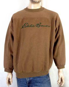 39c51e121a0f vtg 80s 90s Galt Sand brown Eddie Bauer Spell Out Logo Sweatshirt crewneck  4X