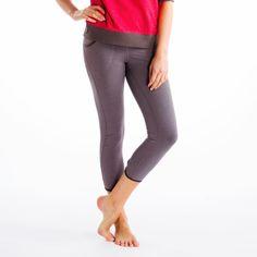 SHIVA CAPRI- These chic, sleek capris move from the yoga studio to stepping out with a slinky sweater. They're so slimming with their tapered legs and so snazzy with their keyhole cut-out on the calf. They're the perfect fit for your active life in our four-way stretch 2nd Skin Pure Heavy, a supportive blend of organic cotton, TencelTM and elastane.
