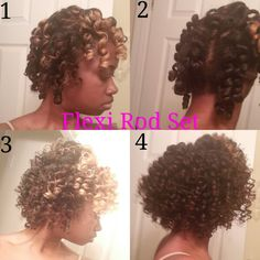 Flexi Rod Set on wet hair