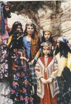 Queen of Iran Farah Pahlavi, amongst the Nomads of Iran