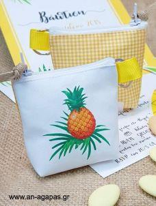 Μπομπονιέρα βάπτισης πορτοφολάκι μπρελόκ Tropical Fruit Tote Bag, Bags, Handbags, Totes, Bag, Tote Bags, Hand Bags