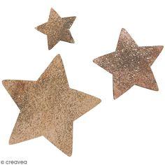 Compra nuestros productos a precios mini Formas de madera - Estrellas con purpurina - 3 a 7 cm - 12 uds - Entrega rápida, gratuita a partir de 89 € !