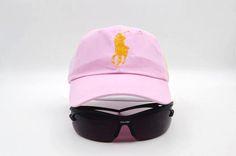 Mens Polo Ralph Lauren Big Pony Embroidered No. 3 Left Stitched Strap Back Adjustable Cap - Pink
